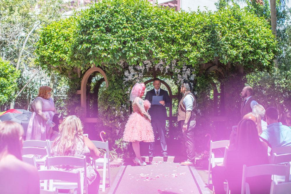 pink upon pink wedding in las vegas!