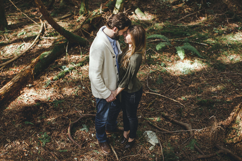 deep forest engagement photos in seattle