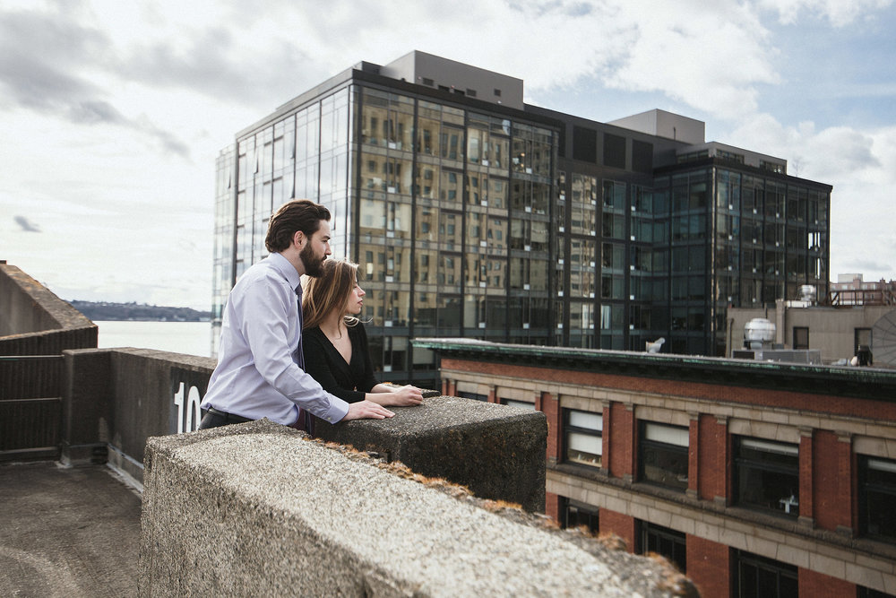 urban seattle engagement photo session