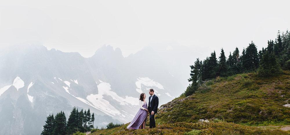 Cascade Pass Engagement Photo