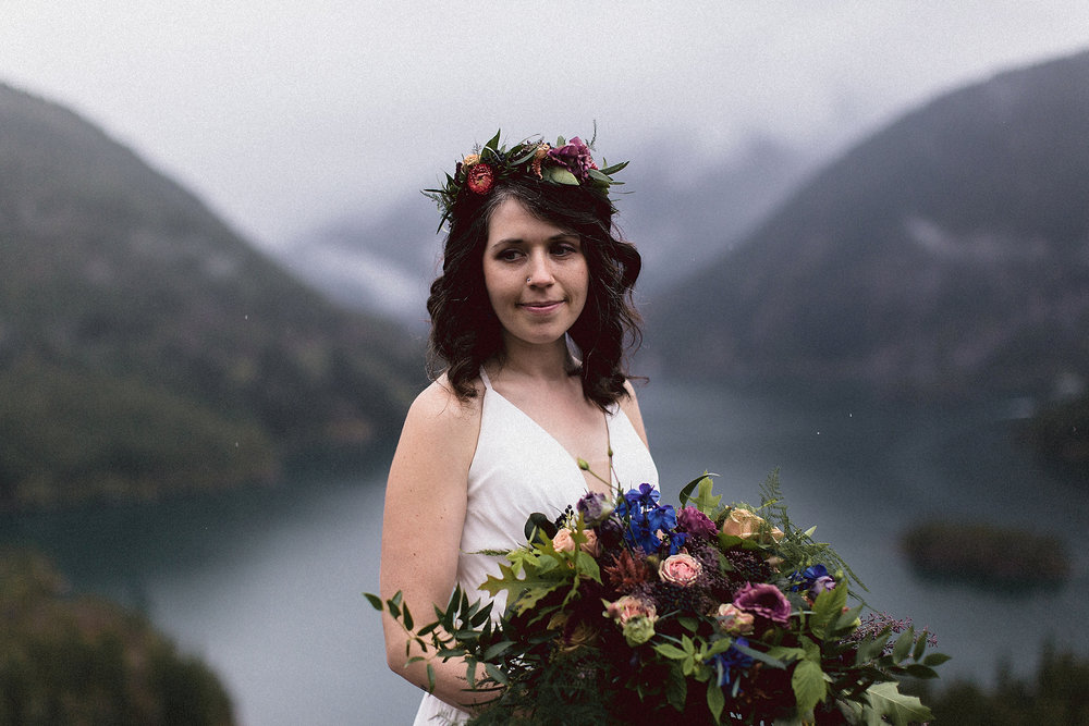 North Cascades Diablo Lake Bride Portrait