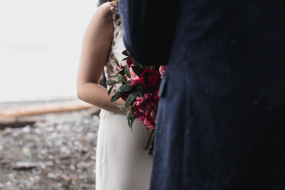 brides bouquet at rialto beach