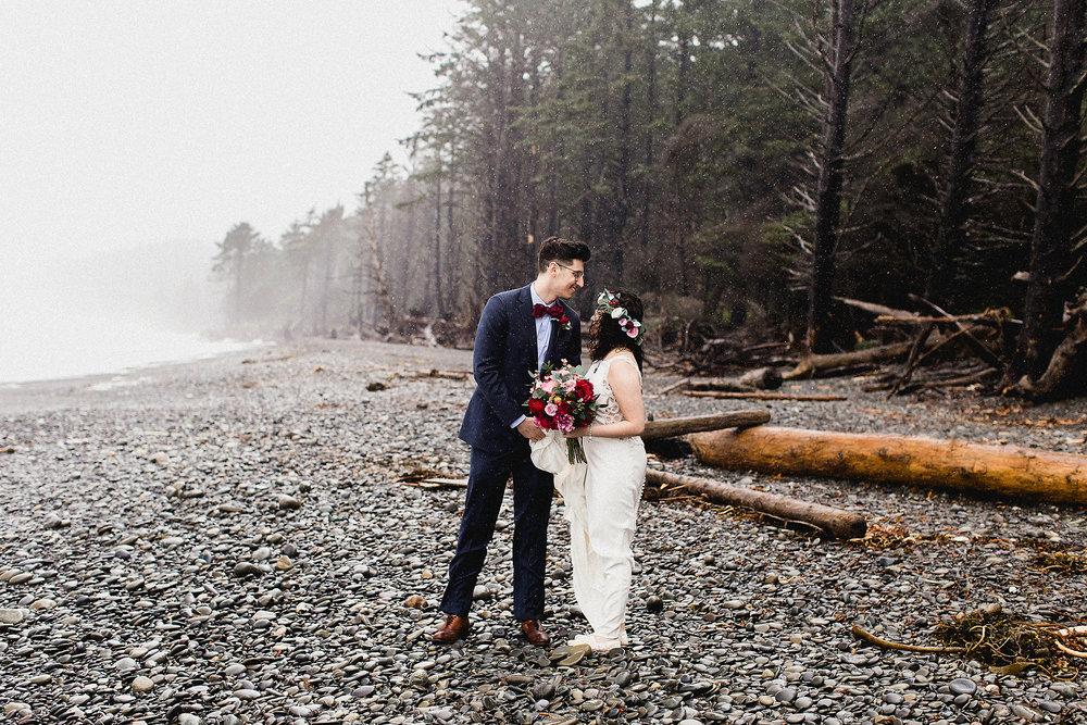 rialto beach wedding portraits