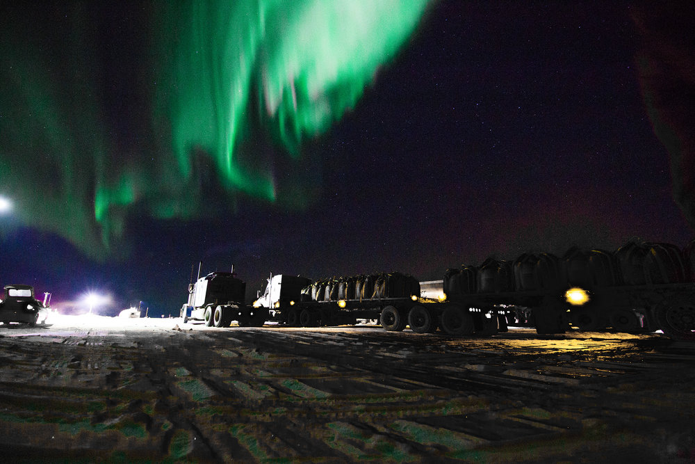 northern lights near ekati mine in the northwest territories