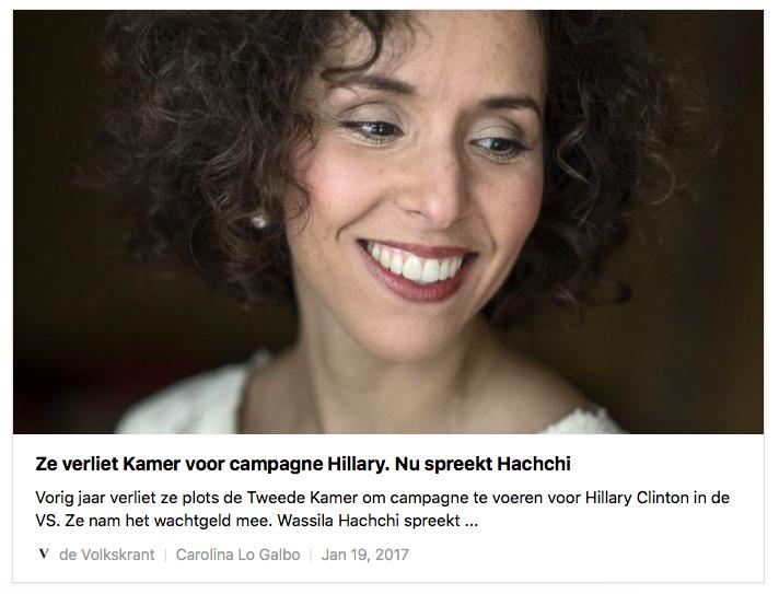 Interview Volkskrant Wassila Hachchi 20 januari 2017
