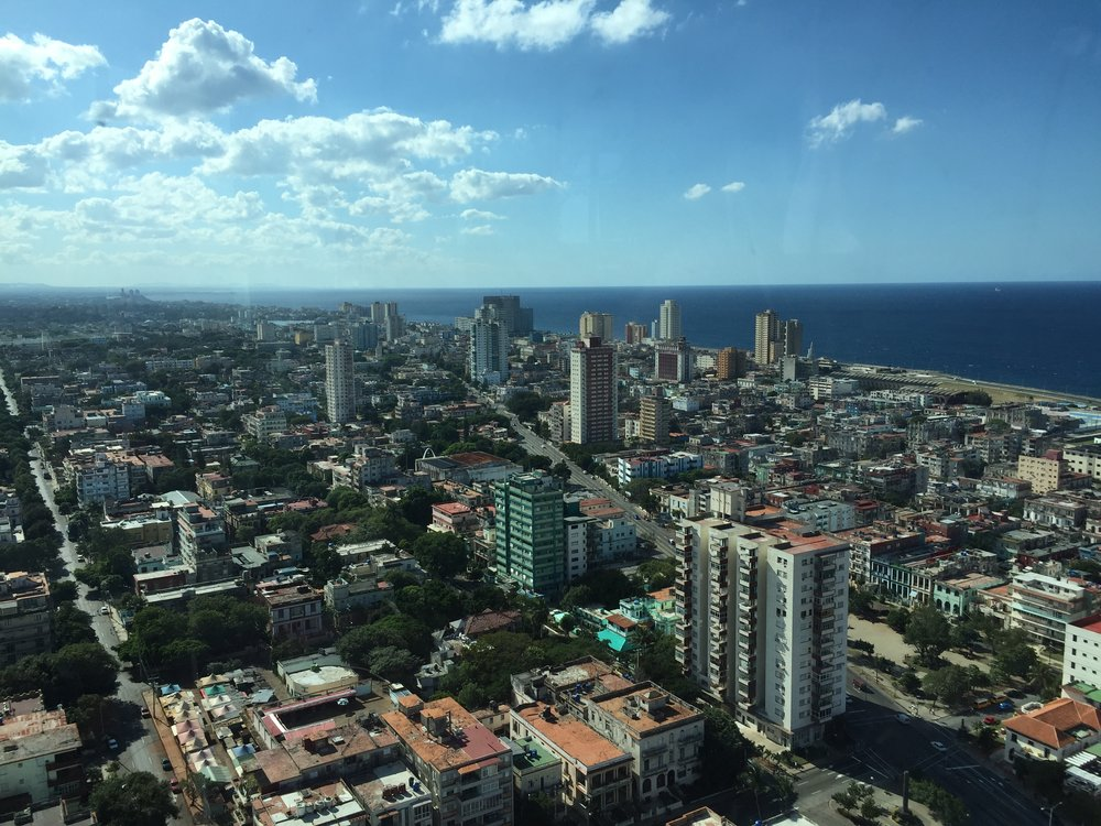Havana, looking west from the FOCSA Building (named after its construction company). Opened in 1956, it's the tallest building in the city.