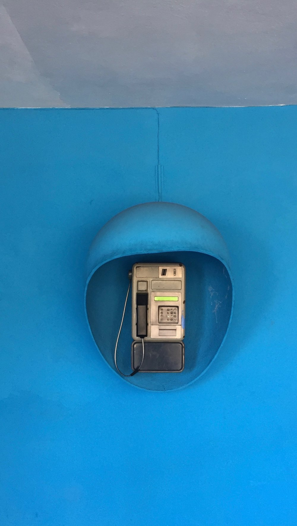 The Cubans have cell phones, but pay phones are a reality in a way that's now unknown in the U.S. or Europe.