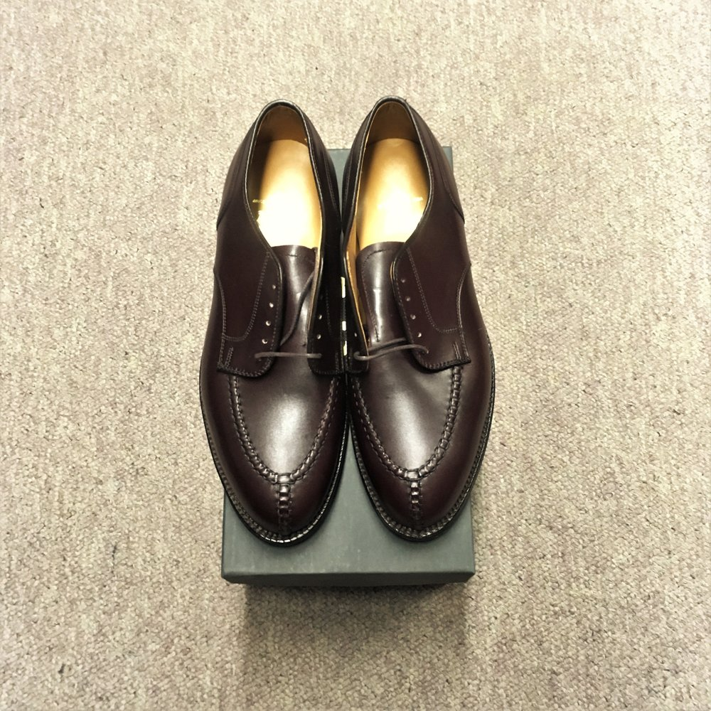 #964 - Aberdeen LastDark Burgundy Calfskin - NST - Leather SoleDiscontinued ModelLAST PAIRS SIZES 7EE, 7.5EE, & 9EEEMSRP $607Contact us for Pricing and Availability