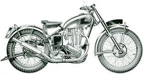 1949 - Ariel VCH  500cc Single cylinder, Magnesium crankcase, Burman 4 speed gearbox