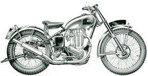1949 - Ariel VCH  500cc Single cylinder, Magnesium crankcase, Burman 4 speed gearbox