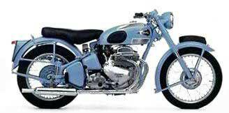 1954 - Ariel Square 4  1000cc 4 cylinder engine, Twin crankshafts, 42bhp, Anstey link rear suspenspension