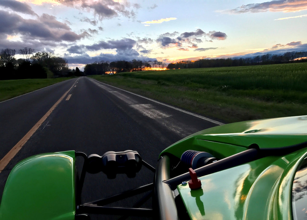 -Enjoying the roads around Halifax County, Virginia in the Ariel Atom 3S