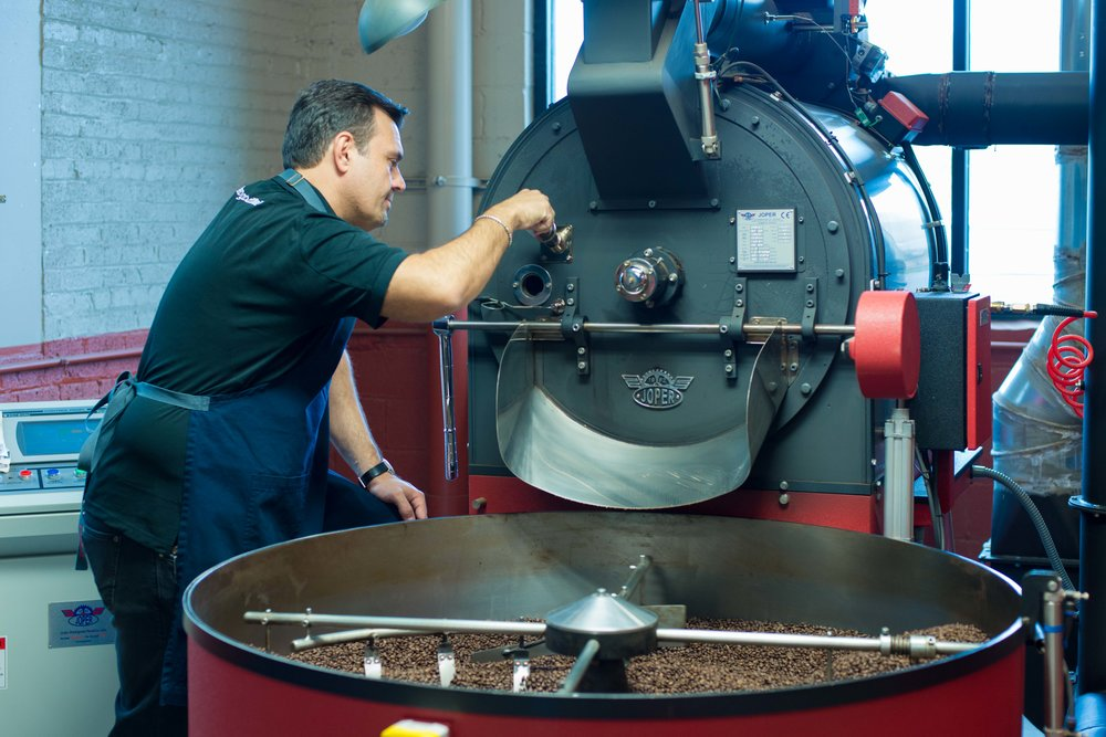 The roasting process begins at our Franklin Park facility.