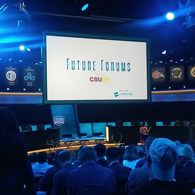 Attending a #futureforum event on #esports @#riotgames