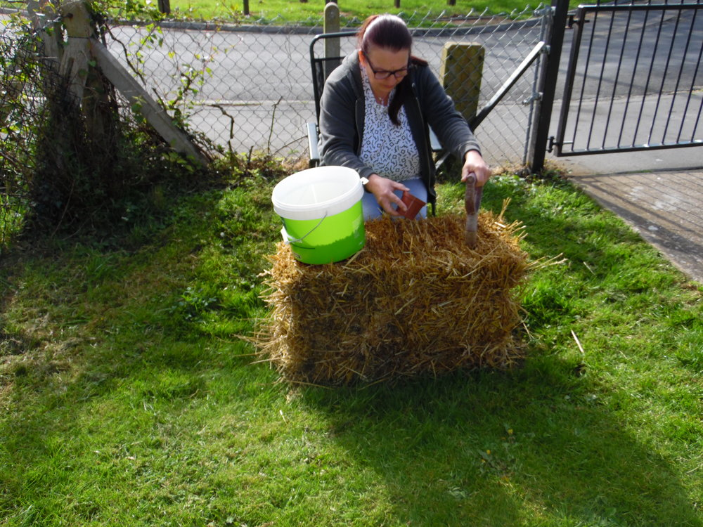 """""""My wife was injured in a road traffic accident some years ago, and subsequently now has acute back pain. This prompted me to find a method to suit her. StrawBaleVeg gardening can be carried out from the sitting position, so it is great for her"""".   Simon Gibbins. Founder. Strawbaleveguk."""