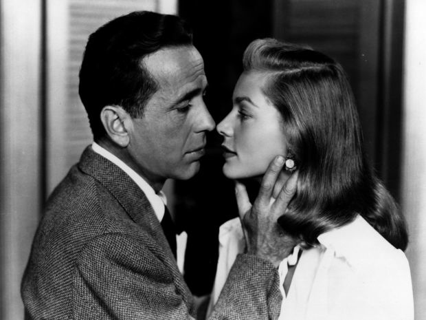 "Lauren Bacall and Humphrey Bogart in ""To Have and Have Not"" (1944)"