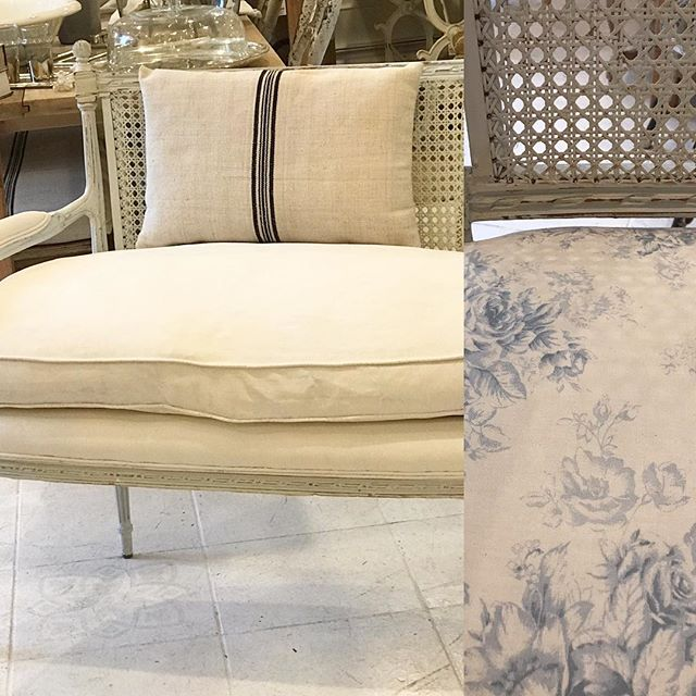 You can paint upholstery with Annie Sloan Chalk Paint ®️ Come in tomorrow and try it yourself. The fabric was too busy for this gorgeous settee so we painted it with Original. Annie Sloan open house Saturday February 23 11-4 @paintedswannyc  #anniesloaninspiration #anniesloanchalkpaint #anniesloanhome #anniesloanstockist