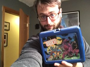 Present Anthony with same Aliens lunchbox