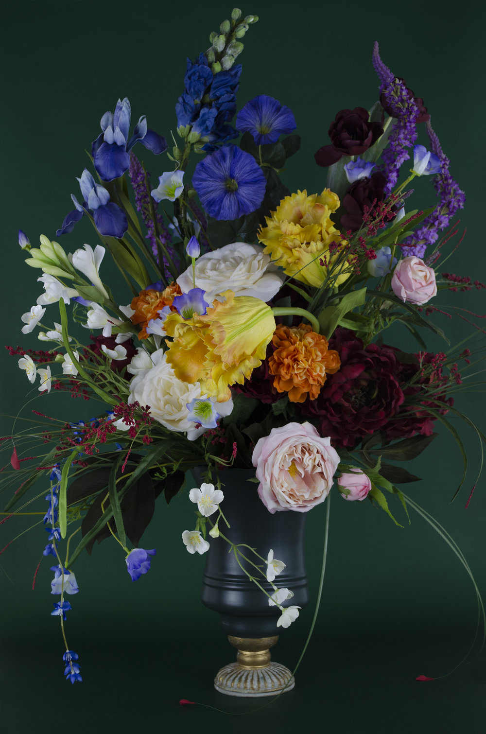 Vase with Silk Flowers