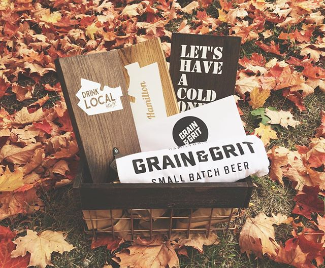 @grainandgritbeer + @grainandhue 😎 This awesome package will be a silent auction item at the Habitat for Humanity Gala this Friday! Bottle openers and Hamilton sign complete with an awesome t-shirt and a tour for up to 6 people at the coolest new brewery in town 😯 It's opening in the fall so you know.....You should go!!! 🍻 Tickets are still available for the Gala - Click the link on @habitathamilton 's profile to buy your tickets now 🎉 . . #hamont #habitathamilton #habitatforhumanity #gala #fall #woodsigns #bottleopeners #brewery #comingsoon #hamontpride #hamontevents