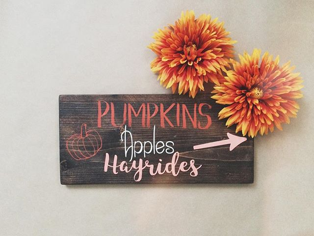 Favourite time of year. Happy first day of October friends! . . #halloweencountdown #fall #ilovefall #woodsigns #hamont #falldecor #fallsigns