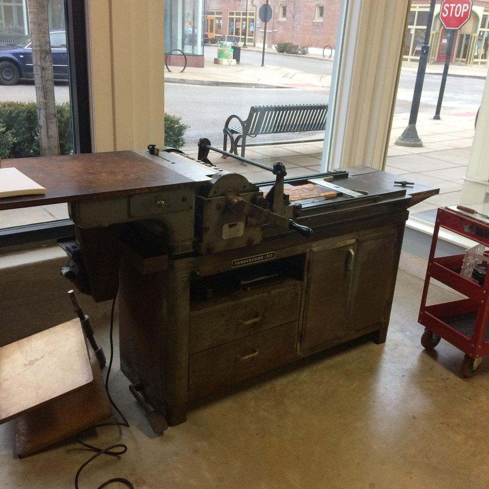 The Vandercook press I print on. Sigh. Isn't she lovely?