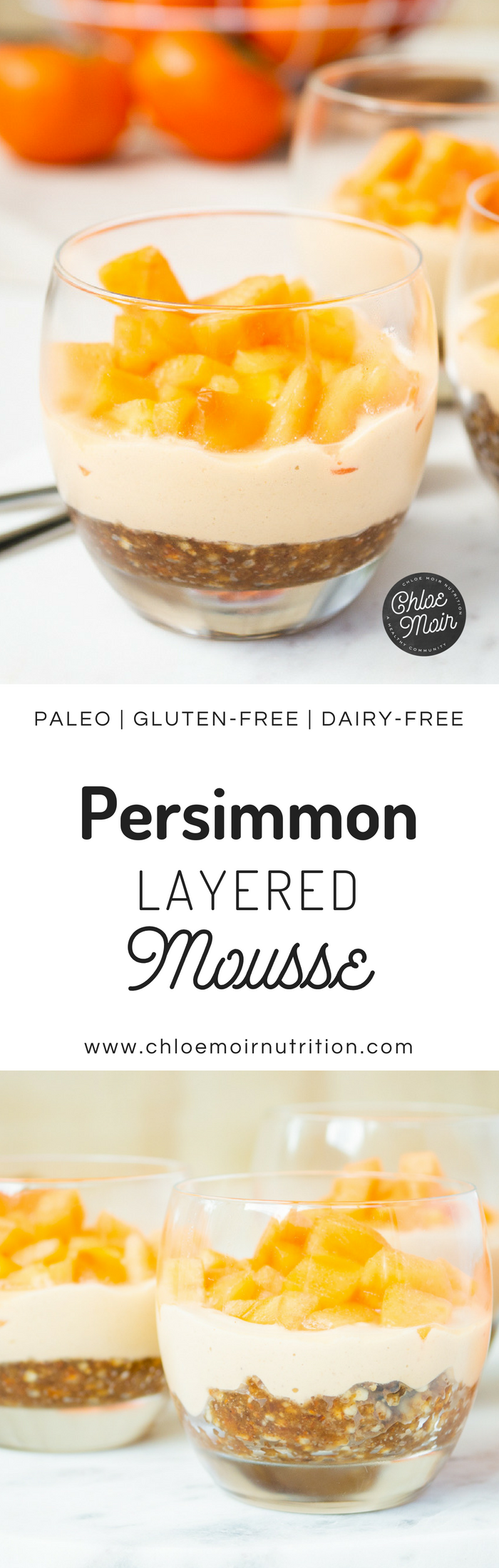 Persimmon Layered Mousse