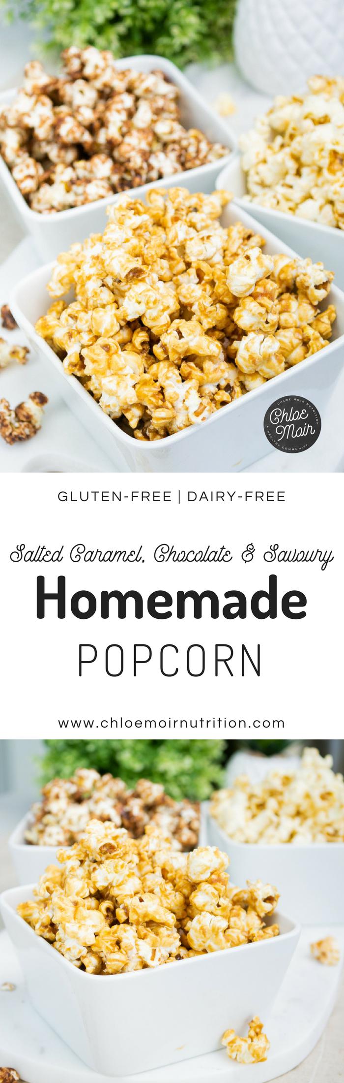 Salted Caramel, Chocolate and Savoury Popcorn