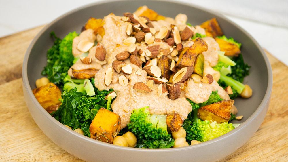 Chickpea, Broccoli & Pumpkin Salad