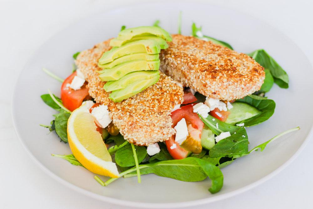 Almond & Sesame Crumbed Fish