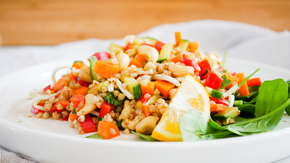 Buckwheat & Cashew Salad