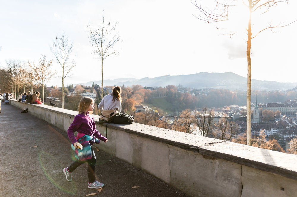 the city of Bern - just overlooking everything, the weather perfect!