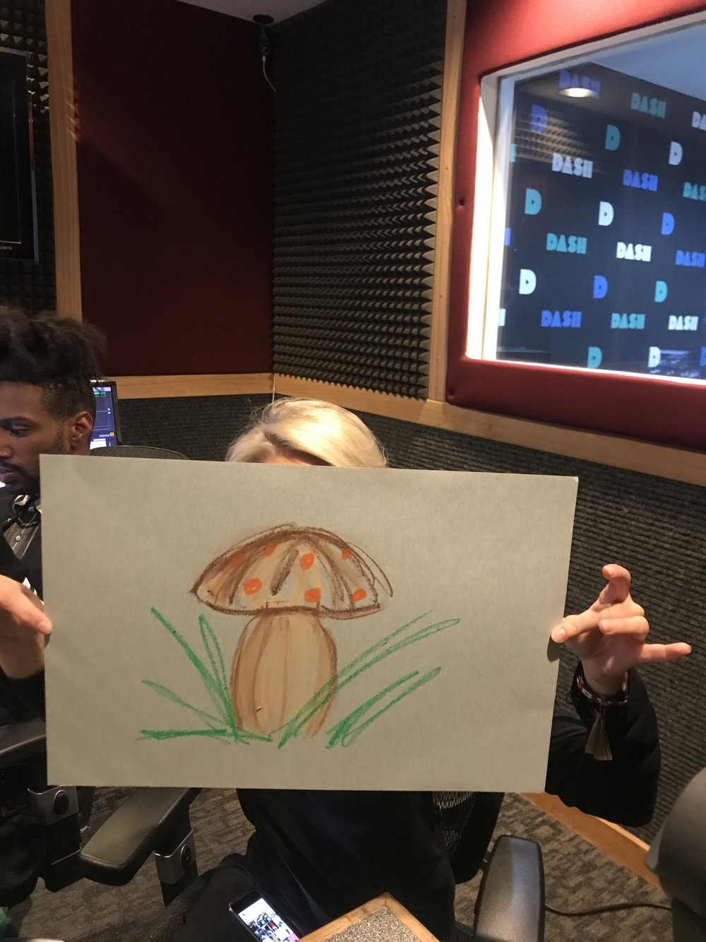 Artist TJ Wisco in the studio for Dicktionary!