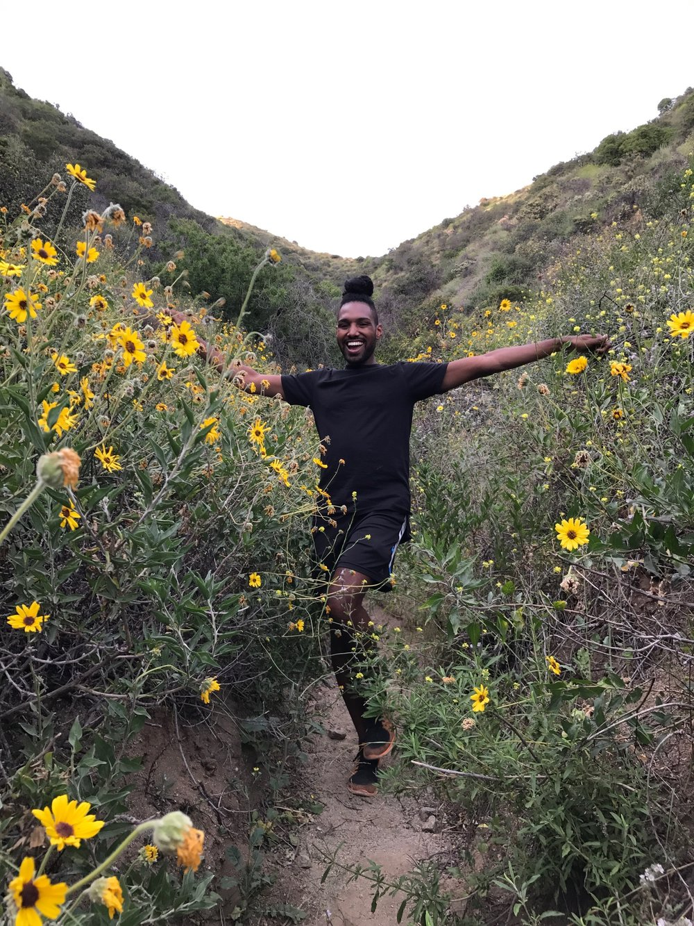 Patrick on a hike.