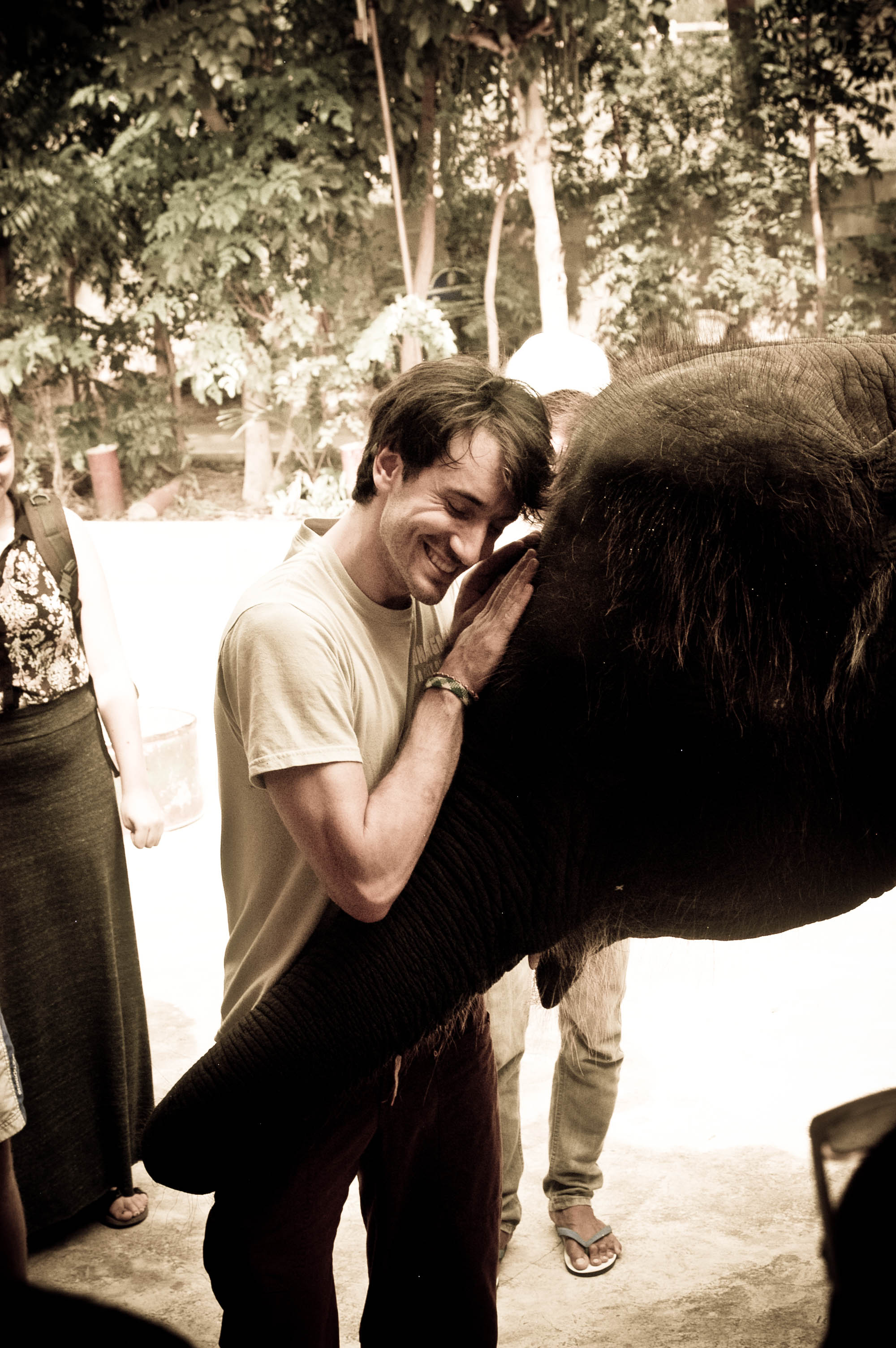 Got a hug from an elephant. My life is just a little bit more complete