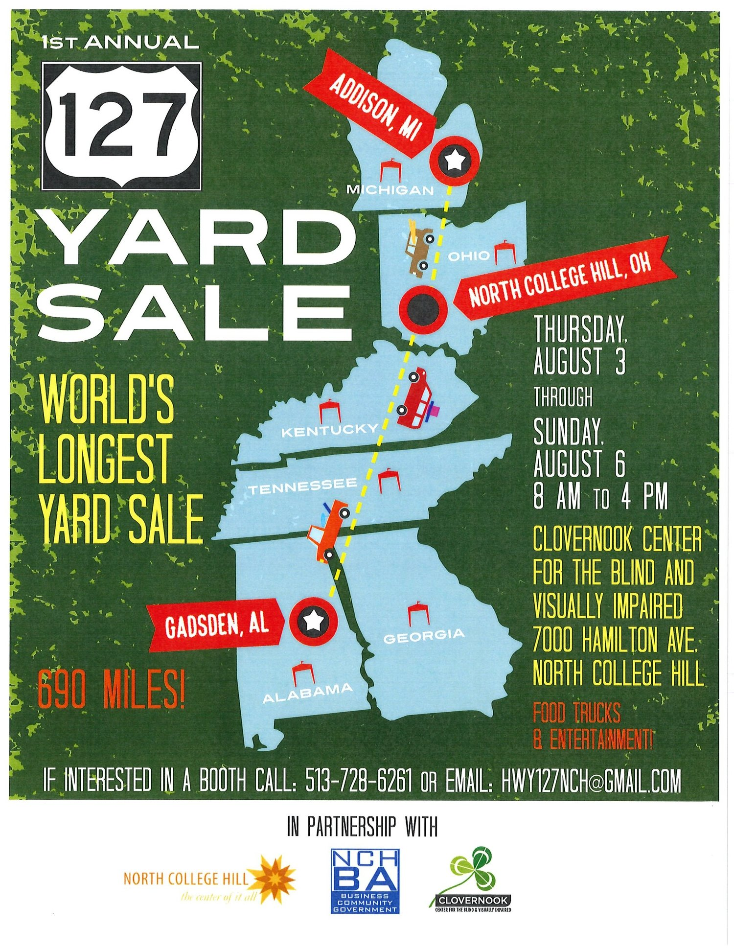 127 Worlds Longest Yard Sale at Clovernook Center for The