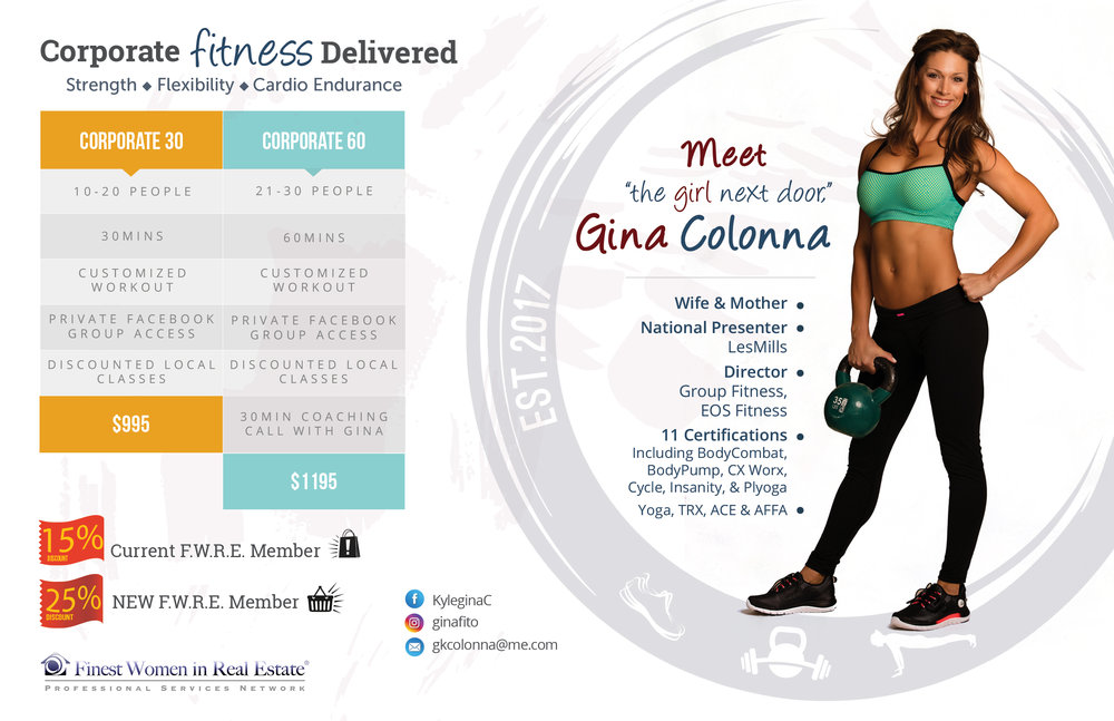 Marketing card/back - Fitness Instructor