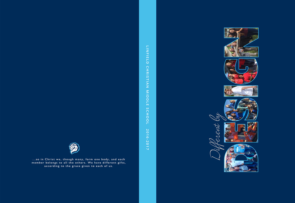 Yearbook Cover - Linfield Christian Middle School