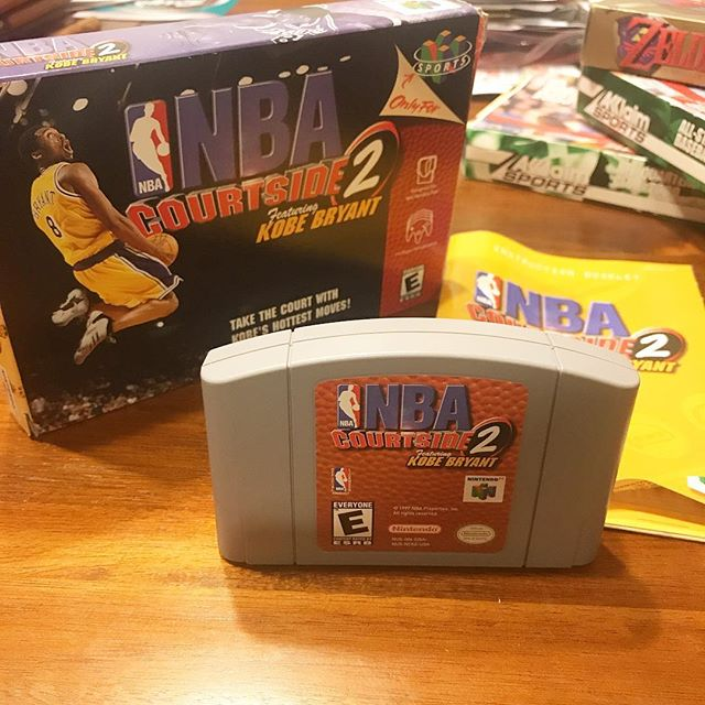 While everyone's out playing 2k or Live.. . . . #retro #retrohunter #retrogaming #nintendo #n64 #n64games #kobe #nba #basketball #oldschool #gaming #games #videogames #videogame #online #gamerguy #gamergirl #gamer