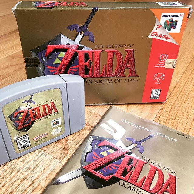 Not mint condition but I'm happy to finally have a complete copy in my collection. . . . #legendofzelda #nintendo #n64 #retro #retrogamer #zelda #link #games #gamer #gaming #videogame #videogames #gamerguy #gamergirl