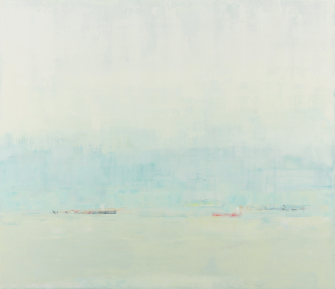 """Vanilla-Mint Cream"", 44' x 51"", oil on wood"