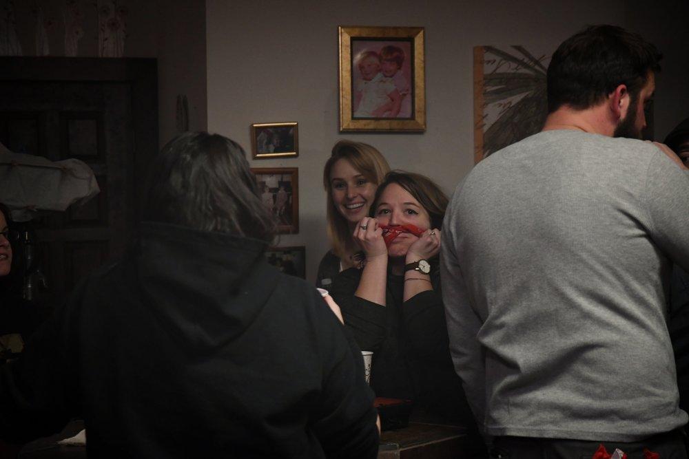 Directors Dycee Wildman and Jennifer Bonior goofing off on the set of Inside The House.  Photo Credit: Scott Arnez