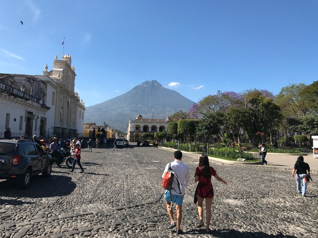 Antigua, Guatemala, famous for its well-preserved Spanish Baroque-influenced architecture and church ruins, is a UNESCO World Heritage site boasting immense natural beauty and religious history.