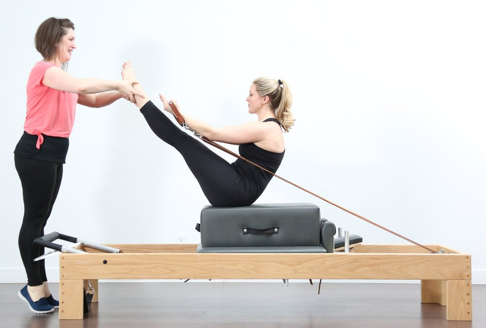 Teaser time! We do Teaser on the Mat, Wunda Chair, Tower and Reformer. Not to worry, there are always modifications and this isn't expected on day one but could be a Pilates goal ;)