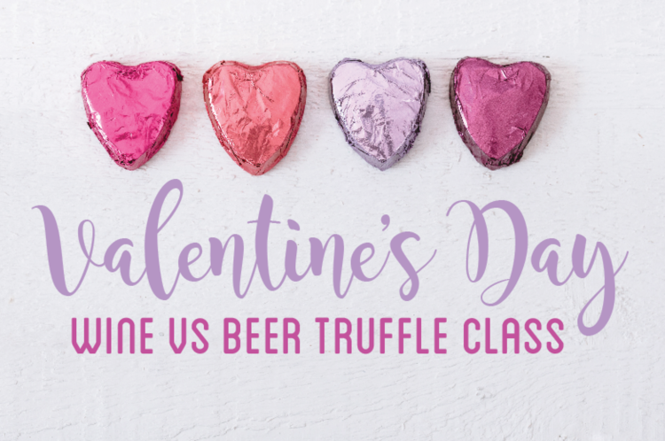 valentines day wine vs beer truffle class wednesday valentines day beer