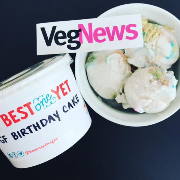 VegNews - It's My [Gluten-Free] Birthday Cake Ice Cream