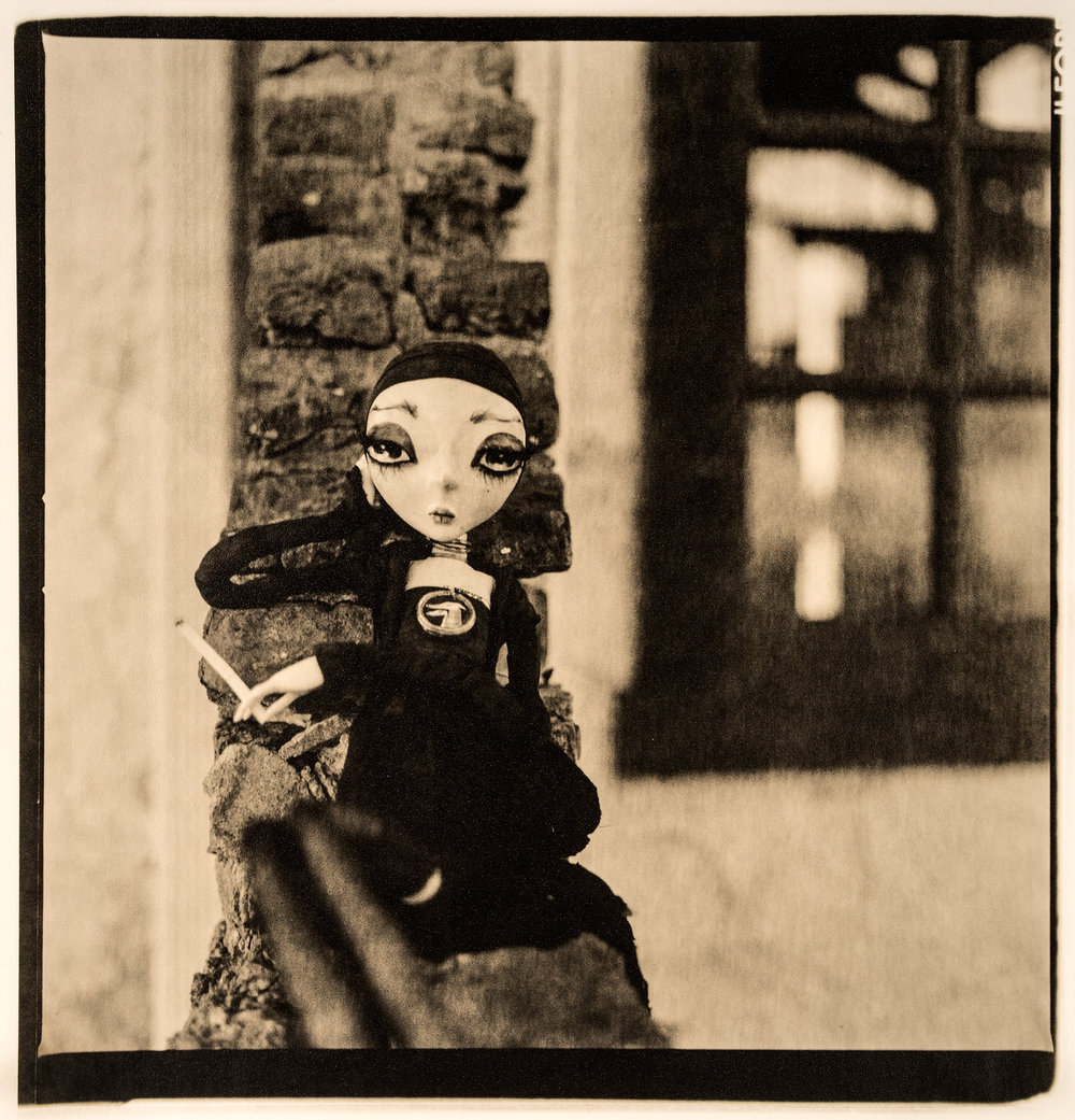 Neverdoll    ©KatarzynaDerda,from series Neverdoll, photograph #13,lith print, Chicago 2013, unique,edition of 1