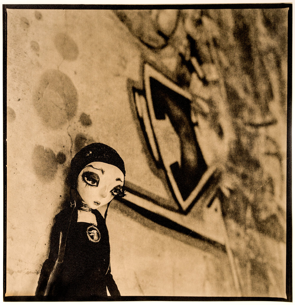 Neverdoll    ©KatarzynaDerda,from series Neverdoll, photograph #14, lith print, Chicago 2013, unique,edition of 1