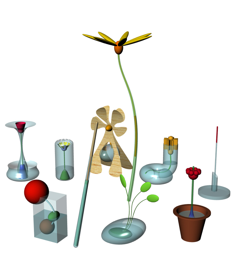 Product ideas with a flower concept following workshop with startup client
