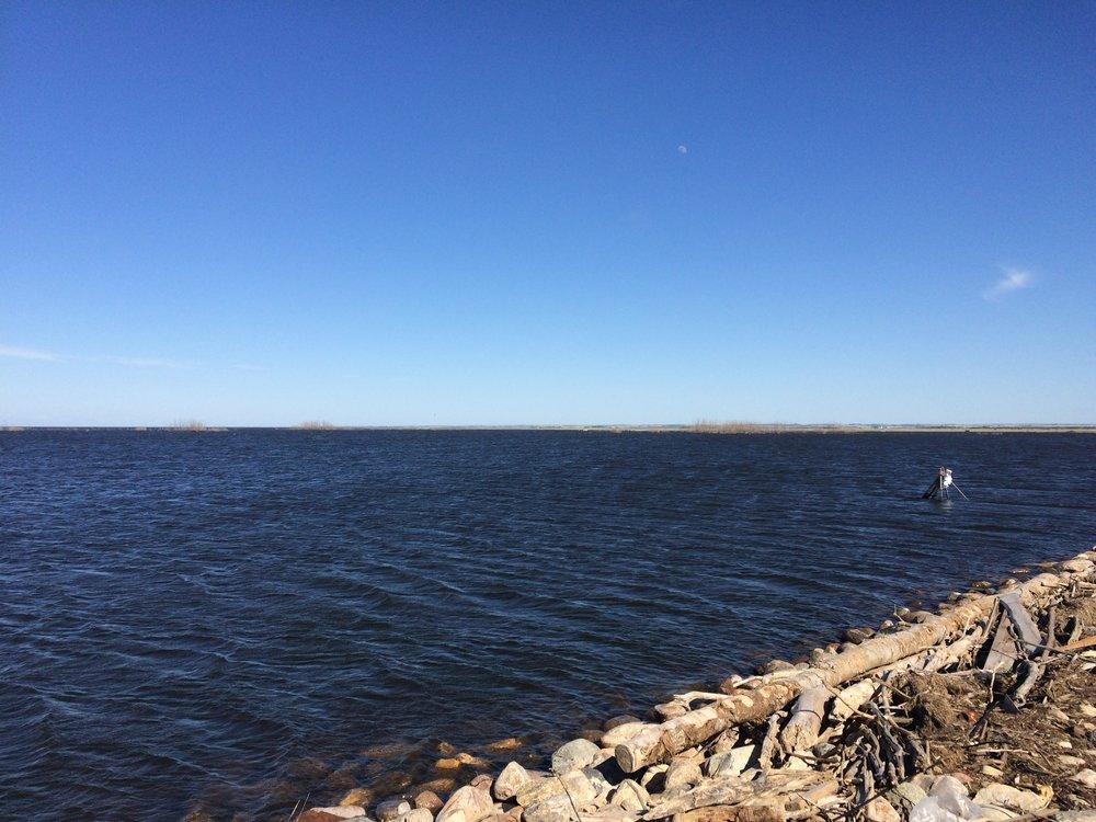 Lake along HWY 16.